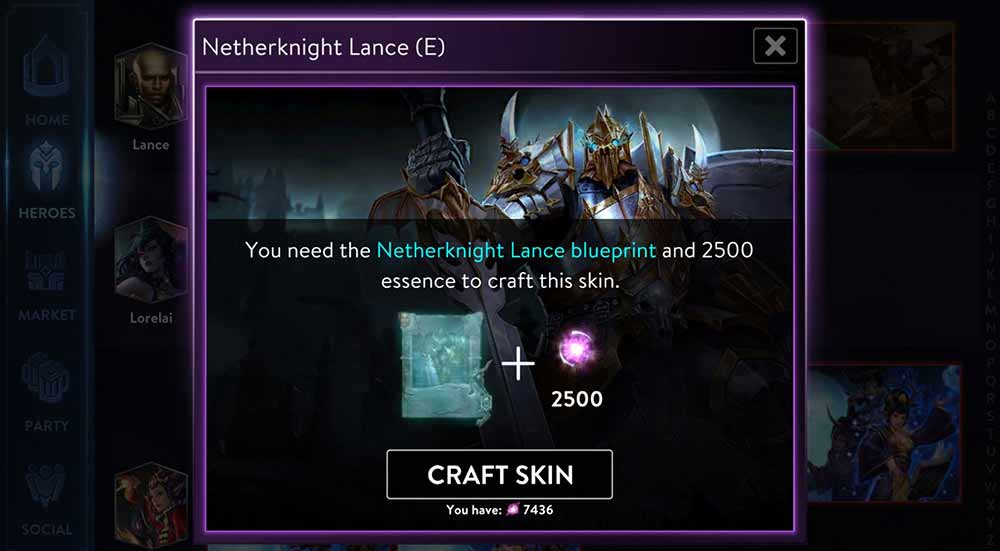 Features archives vainglory crafting a rare skin requires the blueprint 1000 essence crafting an epic skin requires the blueprint 2500 essence crafting a legendary skin requires malvernweather Choice Image